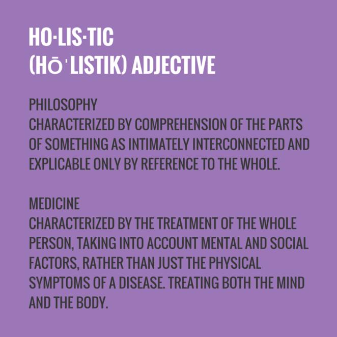 ho·lis·tic(hōˈlistik)