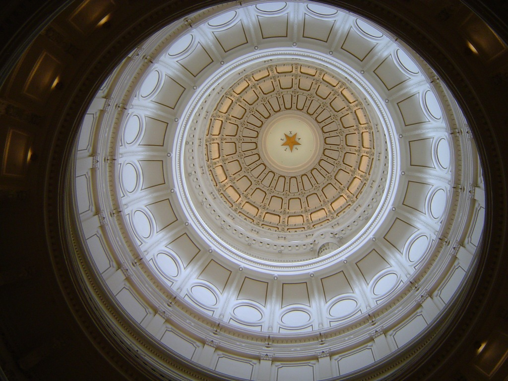 In the Texas State Capitol Dome or Statehouse Building