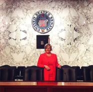 Amy Hagstrom Miller after testifying against Neil Gorsuch's nomination.
